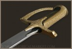 Polish hussar's sabre XVIII c. - polished brass, chromed blade