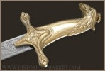 17th c. sabre of King Sobieski - polished brass, not chromed blade