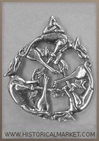 Celtic pendent Three Wolfs